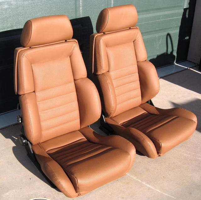 Saddle Brown Recaro Seats