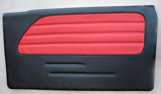 Black with Fire Red Inlet Custom Front
